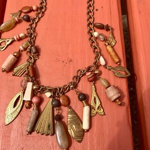 1989's Dangle Necklace With Metal And Bead Dangles